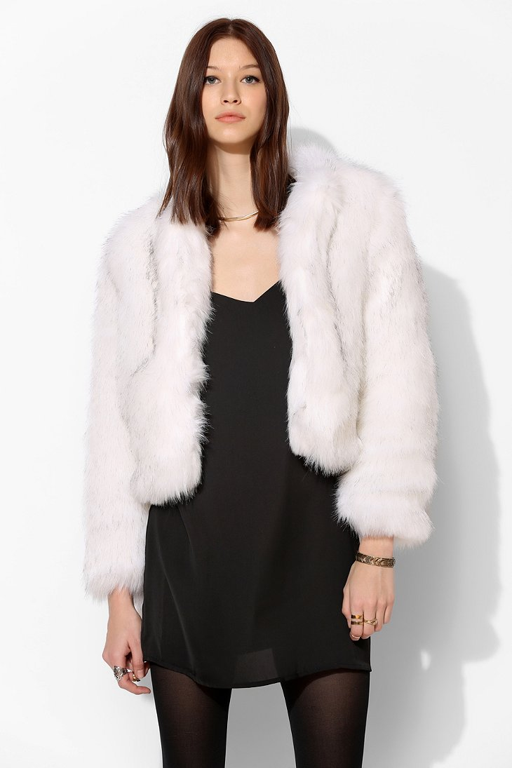 Glamorous Faux Fur Chubby Jacket - Urban Outfitters