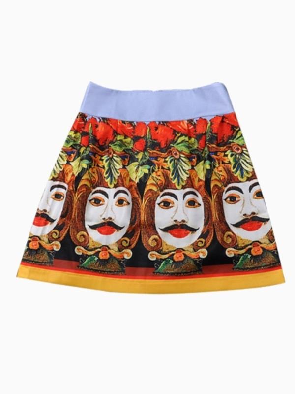 skirt Choies printed skirt summer floral print skirt