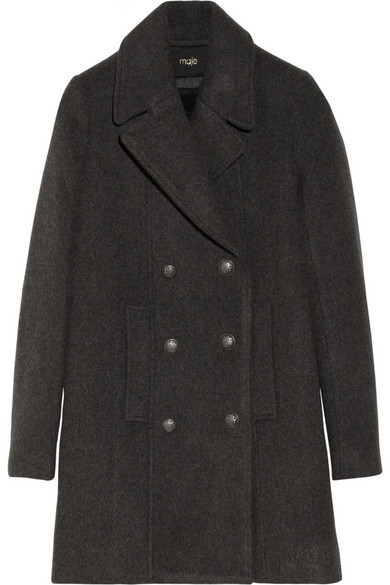 Maje|Dorsophile double-breasted wool-blend coat|NET-A-PORTER.COM