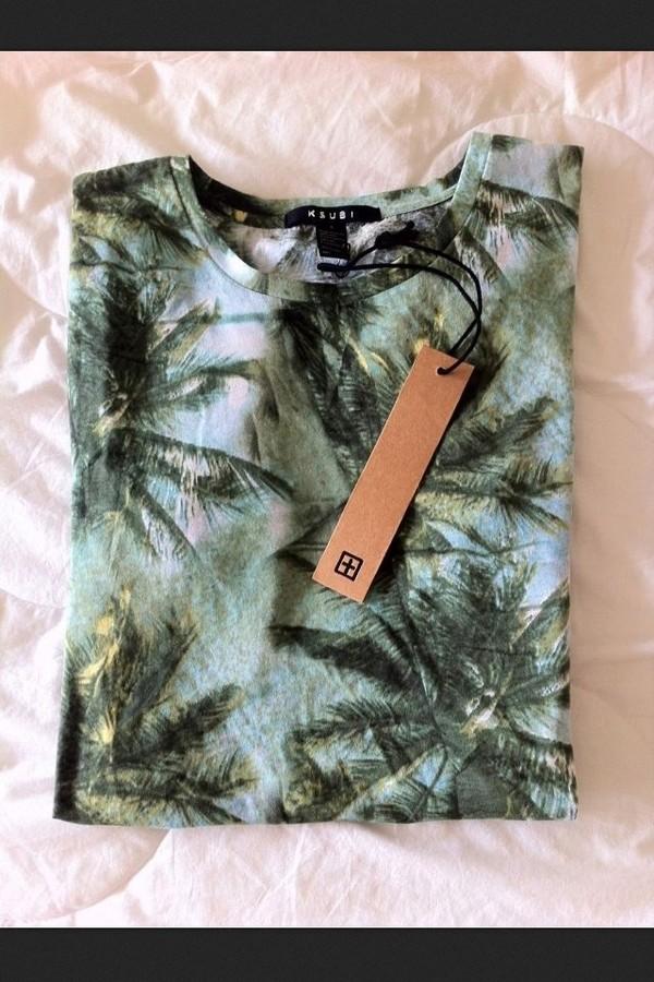 sweater palm tree print tropical