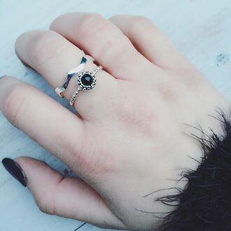 jewels cherry diva onyx ring onyx black jewelry silver 925 sterling silver silver ring silver jewelry gypsy jewelry pandora boho boho jewelry bohemian jewelry tribal jewelry