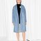& other stories | oversized wool blend coat | blue