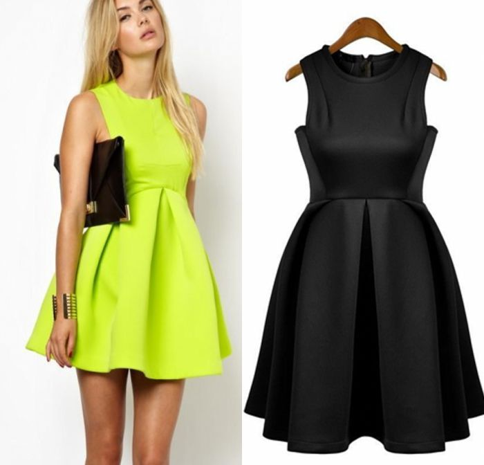 Newest Womens Slim Fit Bubble Ruffle Frill Flared Skater Ball Gown Pleated Dress   eBay