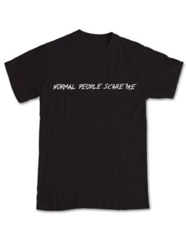 t-shirt american horror story black normal people scare me