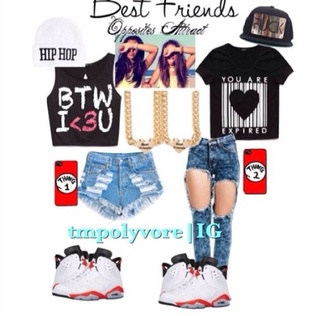hat hip hop bff outfit cute love culture the best besties gotta catch em all bffl shorts shoes jewels jeans shirt