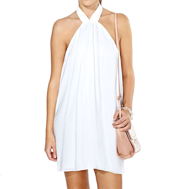 white dress summer dress elegant dress streetstyle stylemoi pretty