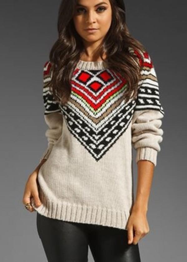 sweater printed sweater