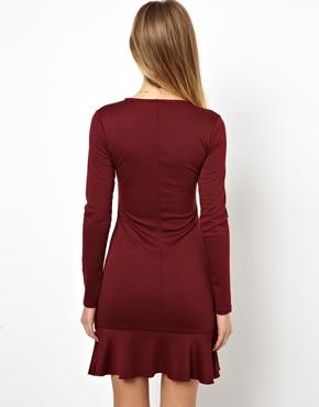 ASOS | ASOS Long Sleeved Pephem Bodycon Dress at ASOS