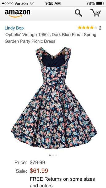 dress lindy bop navy ophelia Pin up swing rockabilly vintage