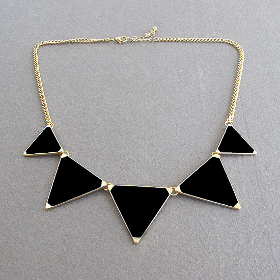 4 Color Europe Style Enamel Triangle Choker Bib Necklace Tribal Spike Geometric | eBay