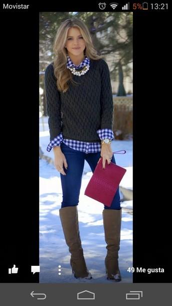 shirt blouse sweater jewels