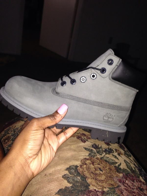 shoes grey timberlands boots
