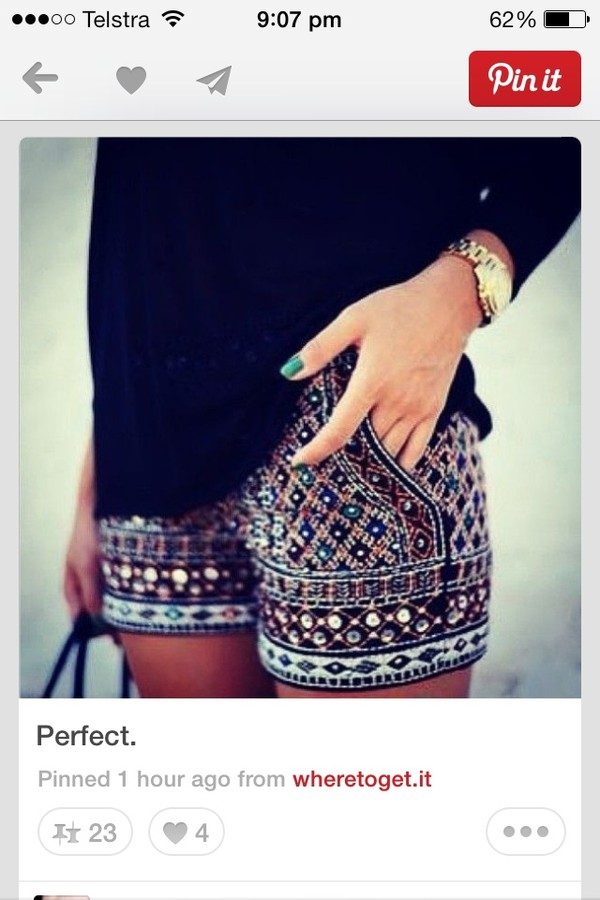 shorts short moroccan print moroccan style shorts. colorful