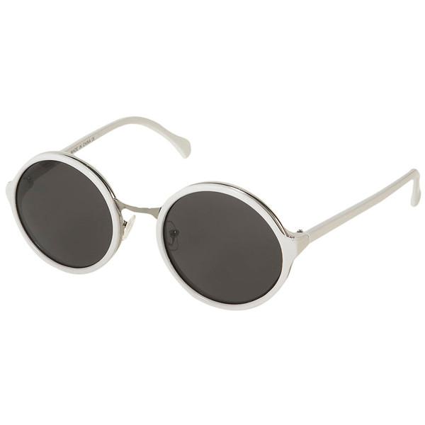 topshop-90s-metal-insert-round sunglasses - Polyvore