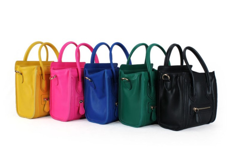 New fashion colored shoulder bags, smile nano bag, pu leather women handbag, hot sale celina mini bag, free shipping!-in Shoulder Bags from Luggage & Bags on Aliexpress.com