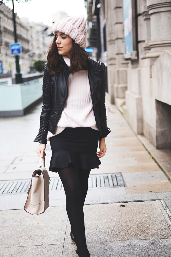 the fashion through my eyes sweater skirt jacket bag hat shoes