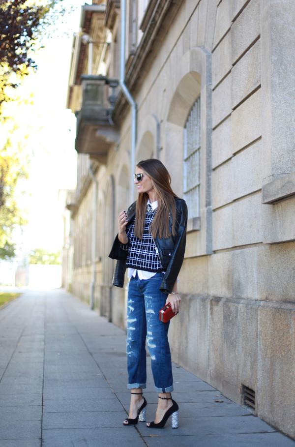 b a r t a b a c shirt jacket jeans sunglasses jewels shoes