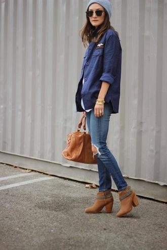 frankie hearts fashion jacket jeans bag shoes hat sunglasses