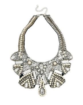 ASOS | ASOS Pearl Bib Necklace at ASOS