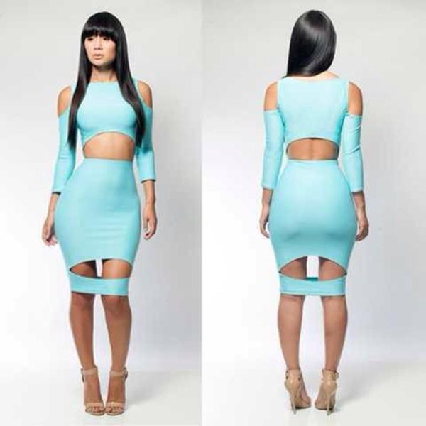 dress baddies boss bodycon dress bandage dress blue dress sexy dress lingerie