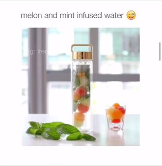 water bottle voss gold instagram clear melon lemon print mint flashes of style