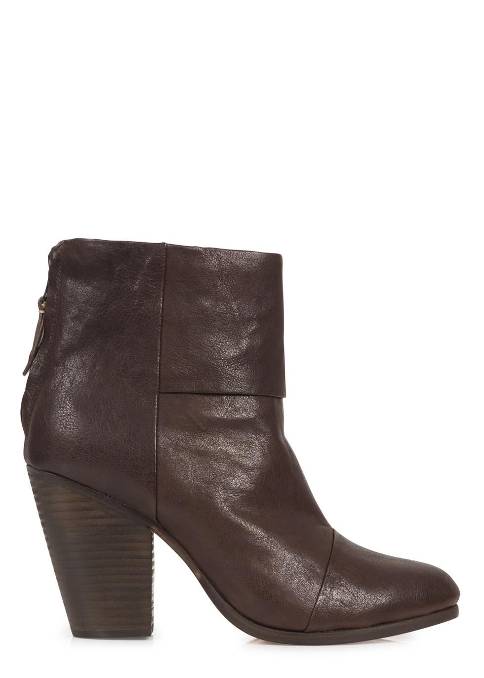 Classic Newbury dark brown leather ankle boots  - Women