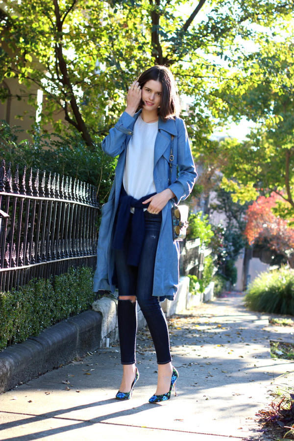 by chill coat dress top sweater jeans shoes bag