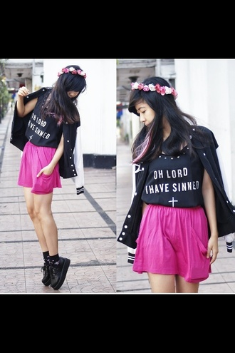 shirt really this fashion oh lord i have sinned amazing like lovely rose flowers ponk rock tag everything pls help me guys why nobody know? blake blacke white pink cute sexy you love it everyone need it look at tjis look at you nedd movies