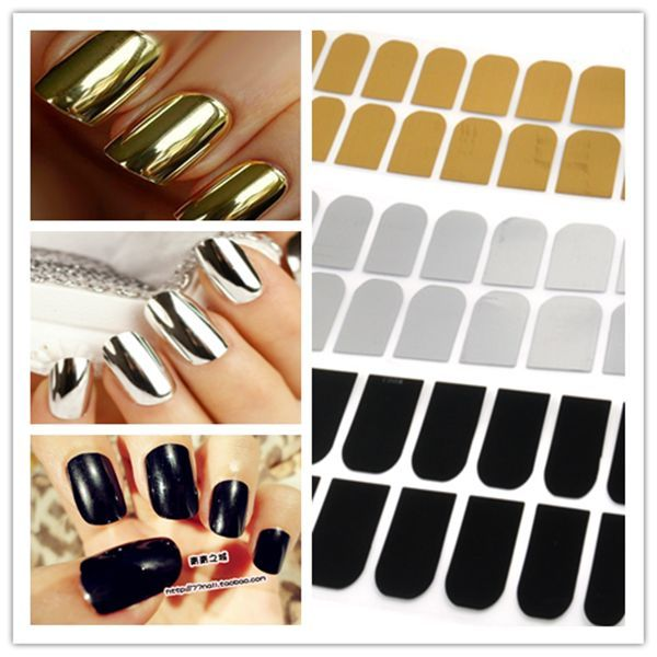 Lots 16 x Smooth Nail Art Sticker Patch Foils Armour Wraps Decoration Cool Hot   eBay