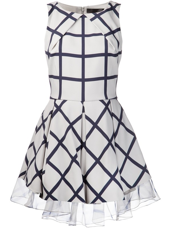 dress sally lapointe double face dress georgette dress