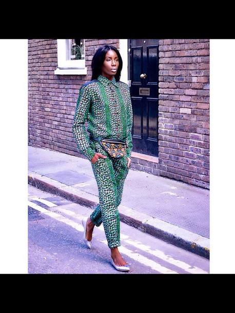 blouse pants shirt african print african style model black girls killin it