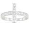 Bague argent croix blanc z0004952   qui est la plus belle - by inesens - boutique de bijoux