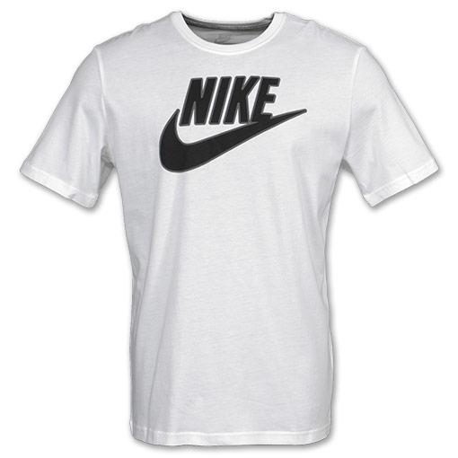Mens nike futura tee shirt white for Black and white shirts men
