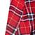 Red Lapel Long Sleeve Plaid Print Crop Blazer - Sheinside.com