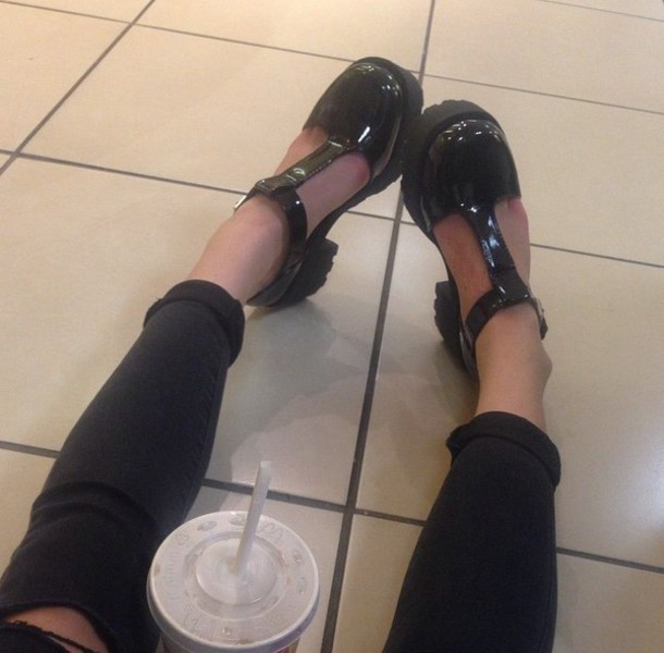 heels platform shoes tumblr outfit girly jellies