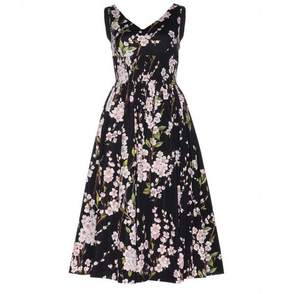 Dolce & Gabbana Floral-Print Cotton Midi Dress - Polyvore