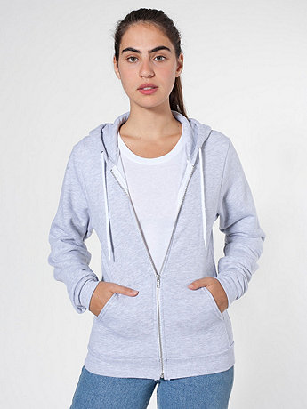 Unisex Salt and Pepper Zip Hoodie | American Apparel