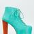 Jeffrey Campbell Lita Turquoise Platform Heel Aqua Mint Women Sz Booty Boot Pump | eBay