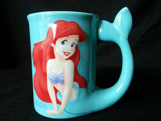 swimwear the little mermaid ocean blue red cup nail accessories arielle home accessory coffee cups mug mermaid disney ariel