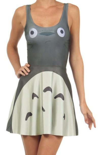 dress totoro grey totoro