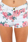 Rose Bouquet Fitted Shorts - Tobi