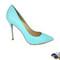 Snake mint color heels