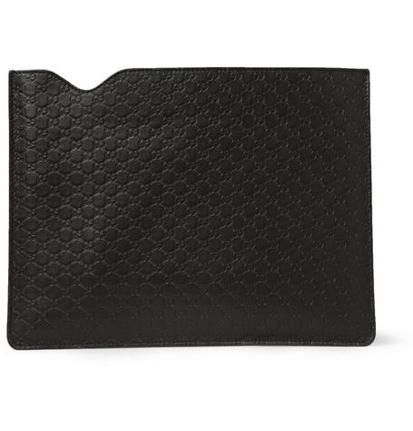 Gucci - Embossed-Leather iPad Sleeve MR PORTER