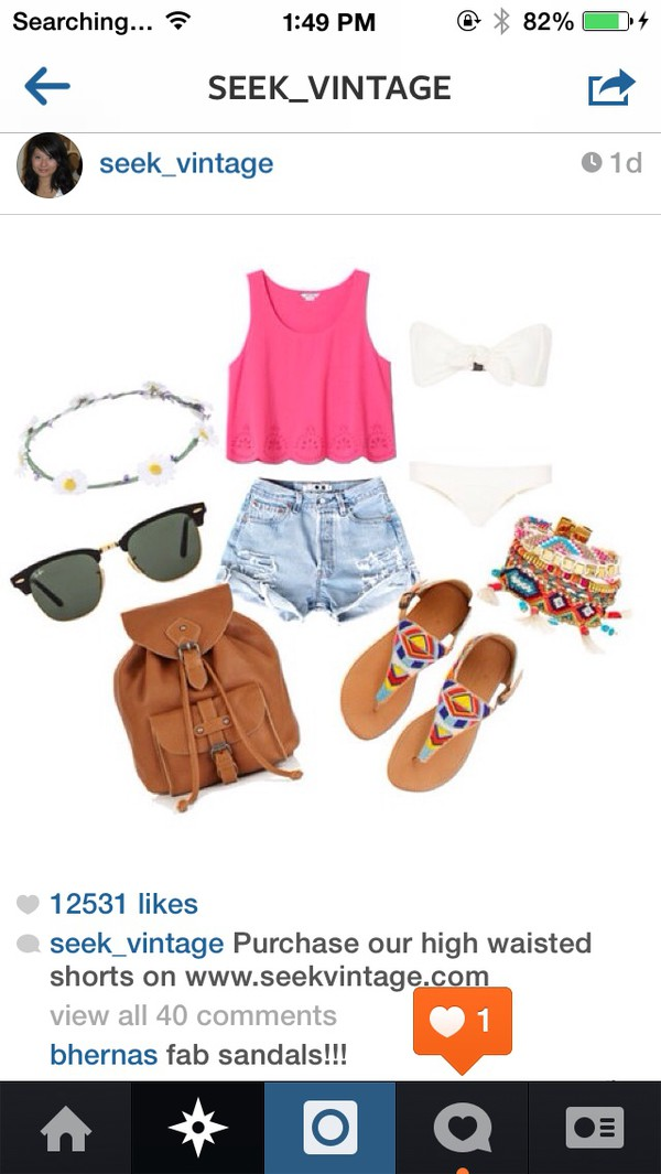 bag blouse sunglasses