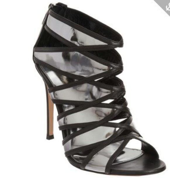 shoes strappy heels