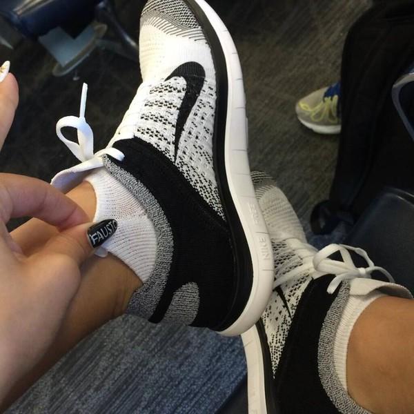 shoes swag nike zendaya nike flyknit nike running shoes nike free run white grey black black shoes