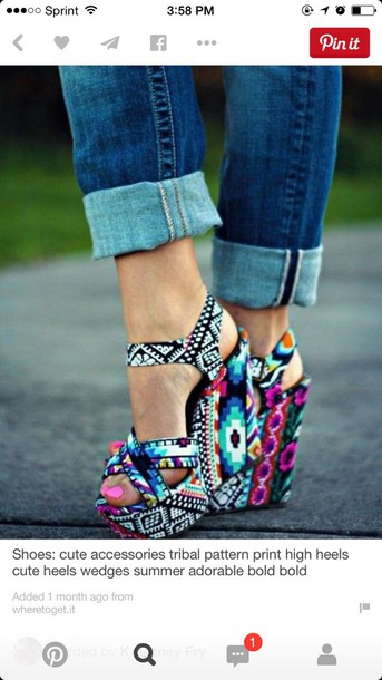 shoes colorful wedges wedges colorful aztec wedges heels aztec