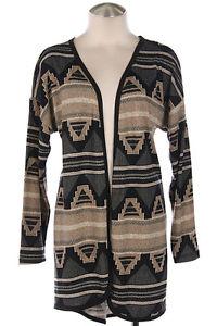 Spring New Taupe Tribal Aztec Print Lightweight Cardigan Sweater s M L | eBay
