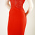 Deja Boutique. Jenna red beaded bandage dress