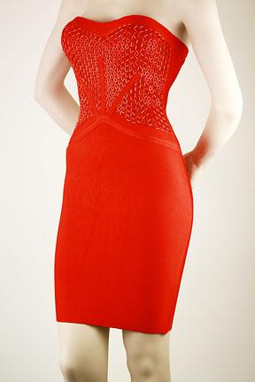 Deja Boutique. Jenna red beaded bandage dress